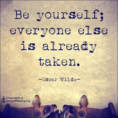 be yourself - oscar wilde type writer